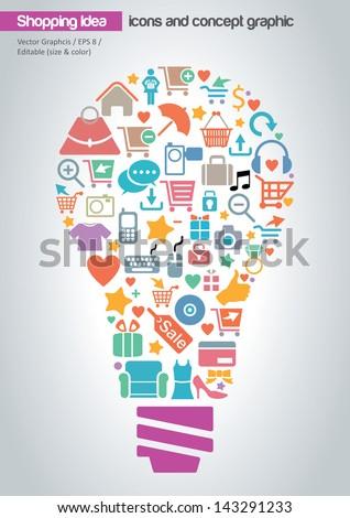 stock-vector-online-shopping-idea-concept-design