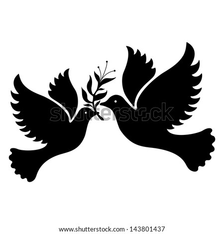 a free flying white dove symbol