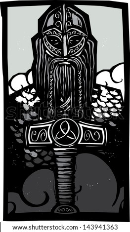 woodcut style image of the