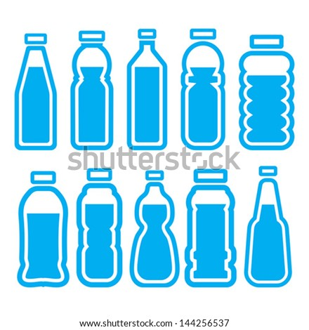plastic bottle set