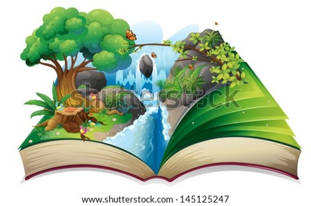 illustration of a storybook