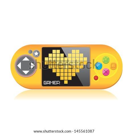 orange video game controller