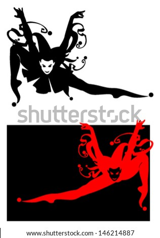 jester silhouette clown on