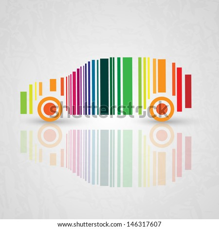 color bar code   car