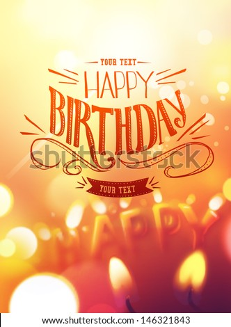 birthday card design with