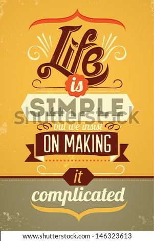 wise words vector typography