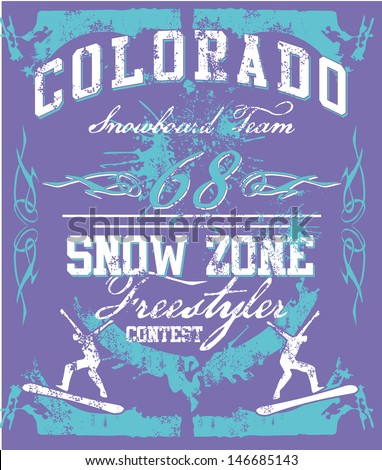colorado snow zone vector art