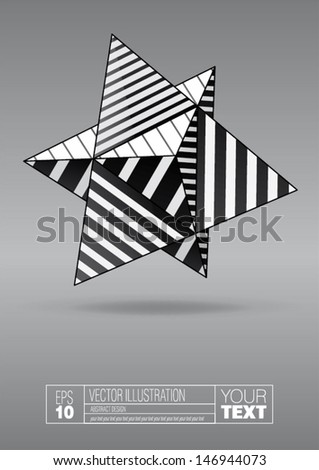 dual tetrahedron with black and