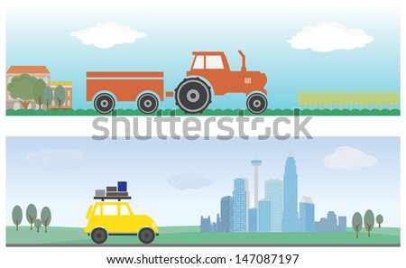 transport horizontal banner