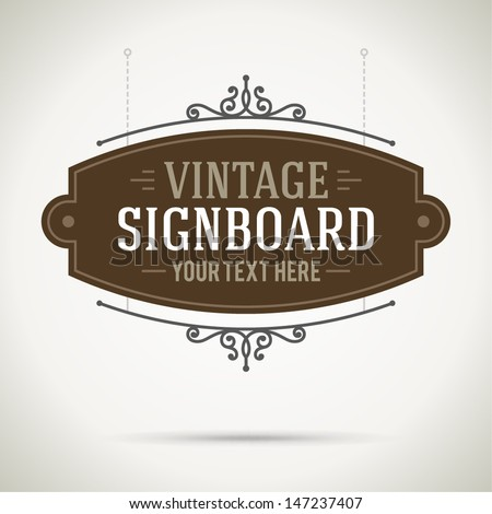 vintage signboard outdoor
