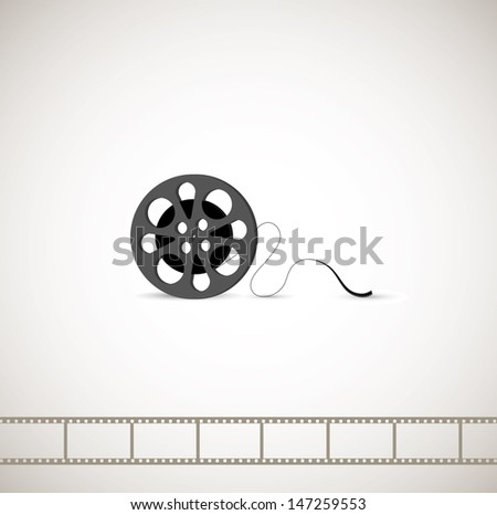 roll films on a gray background
