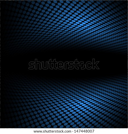 blue perspective dotted