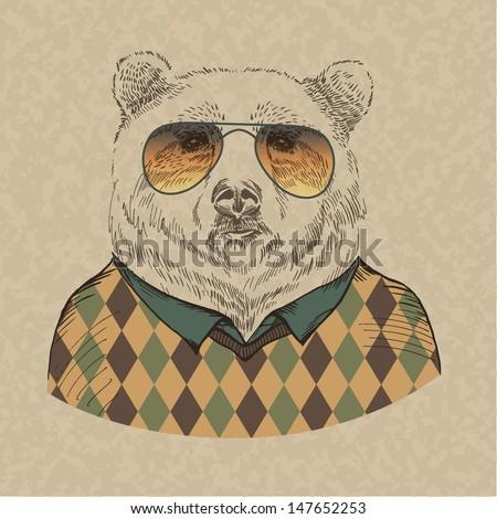 vector illustration of bear