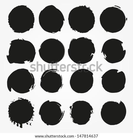 set of vector round grunge