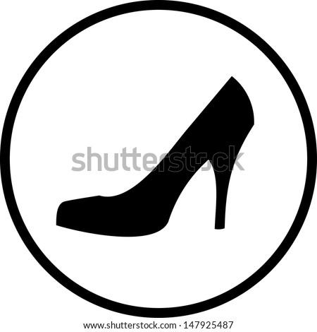 elegant women high heel shoe