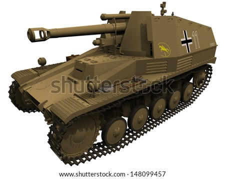 3d rendering of a wespe ww2