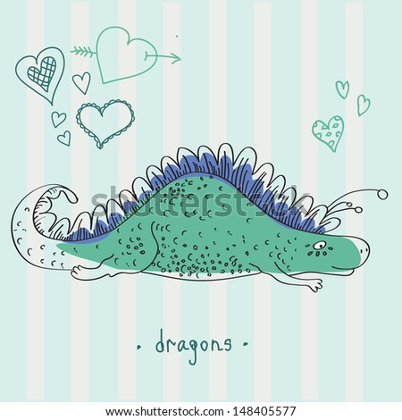 happy dragons cartoon