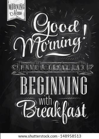 poster lettering good morning