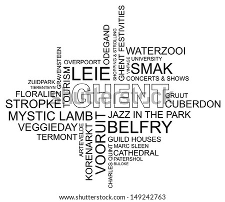 word cloud around ghent  city
