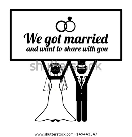 wedding design over white