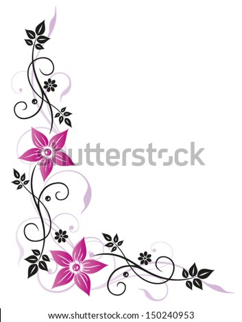 filigree colorful flowers