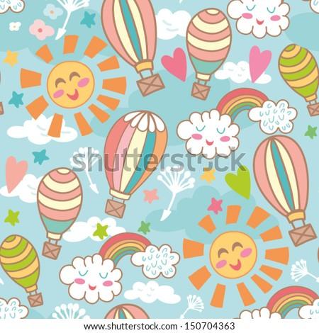 cute bright seamless pattern