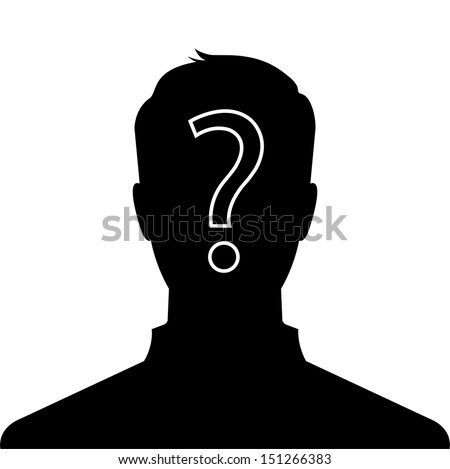 male silhouette profile picture