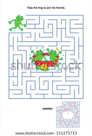 maze game or activity page for