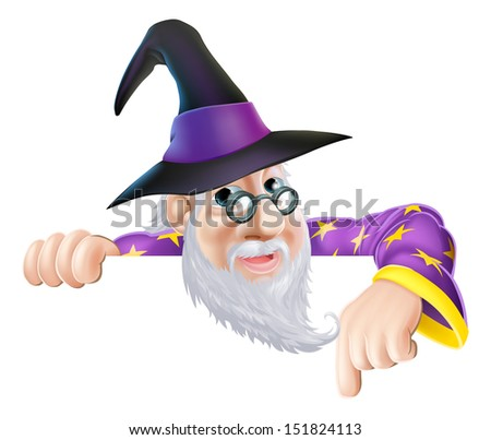 an illustration of a wizard