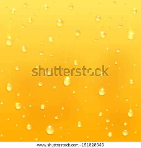 drops on glass  yellow drink