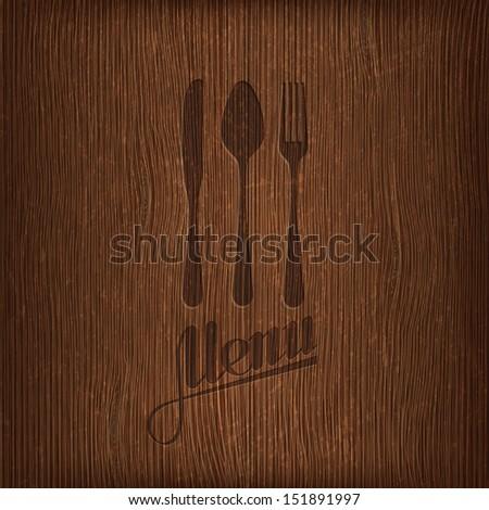 restaurant menu design on wood