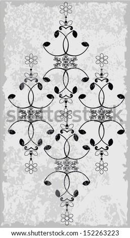 aztec flowers pattern