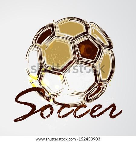 vector grunge soccer ball
