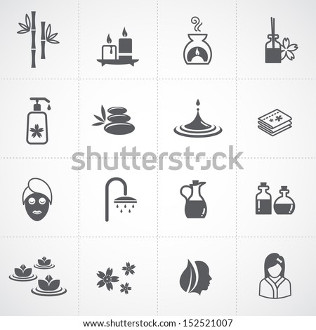 spa icons set