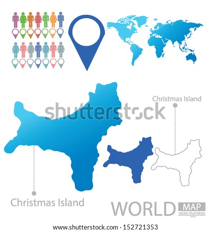 christmas island world map