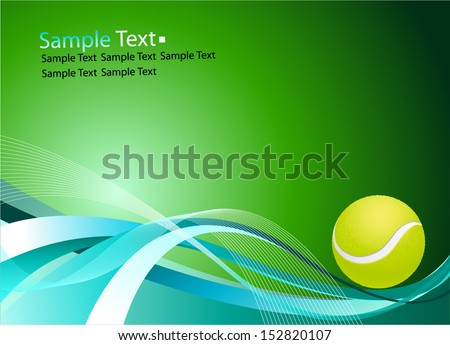 sample text tennis ball