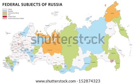 russia administrative map