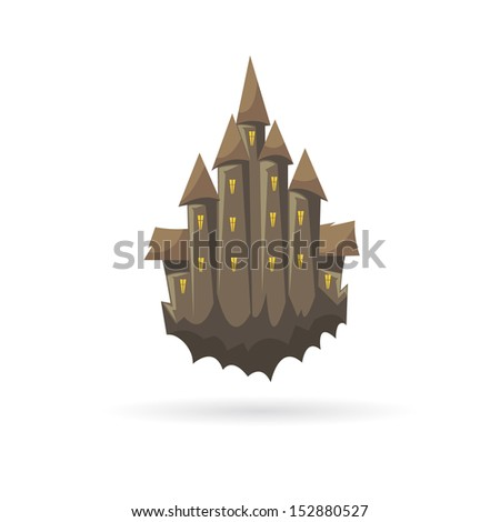 haunted castle isolated on a