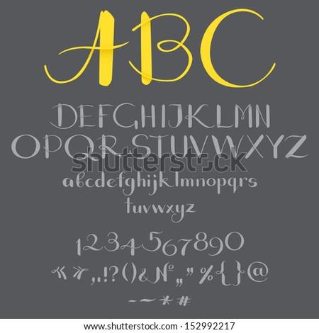 calligraphic font