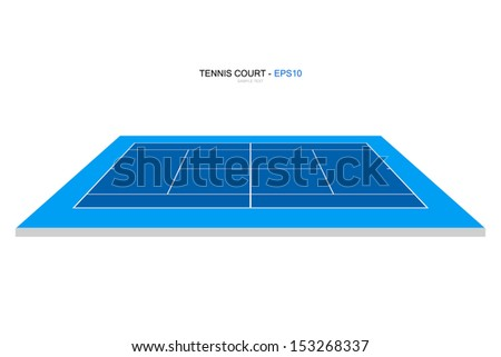 perspective view of tennis