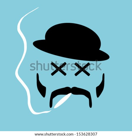 man smoking with x eyes
