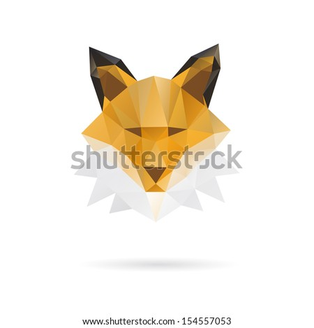 fox head abstract isolated on a