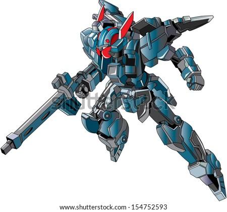 flying metallic ally grey robot