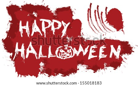 happy halloween message on