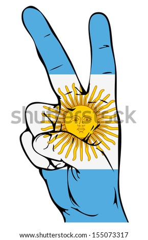 peace sign of the argentinean