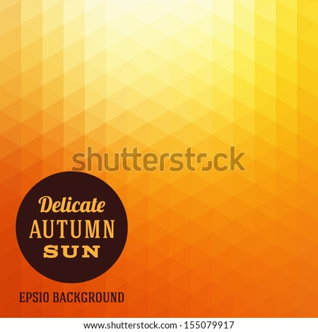 autumn sun triangle vector