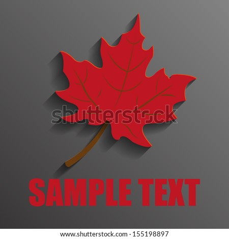 red maple leaf