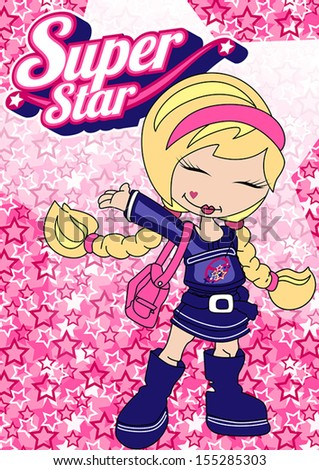 super star girl illustrator