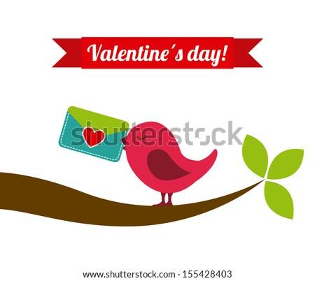 valentines day over white