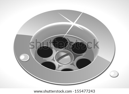 metallic sink vector